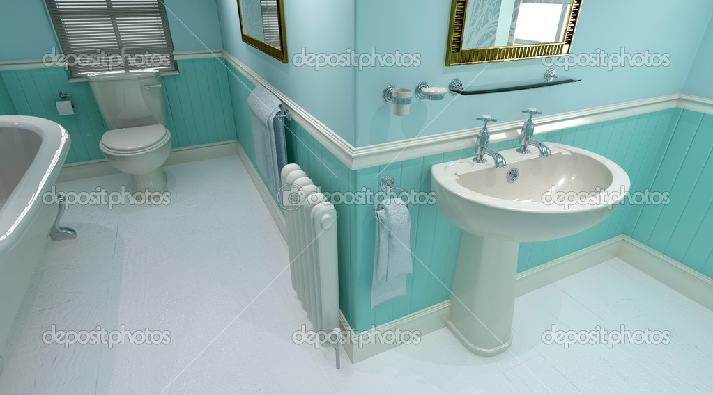 3d render of contemporary bathroom interior  Stock Photo #4415089