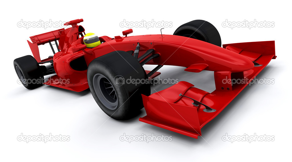 3d render of a formula one racing car  Stock Photo #4416332