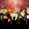 Party crowd — Stock Photo