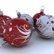 Christmas decorations on white — Stok fotoğraf