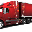 Christmas Americsemi-trucks — Stock Photo #5032554