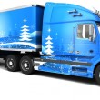 Christmas American semi-trucks — Stock Photo