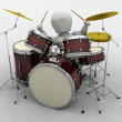 Man playing the drums — Stock Photo #5033121