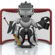 Ice hockey Goalie — Stock Photo #5033379