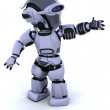 Cute robot cyborg — Stock Photo #5039216