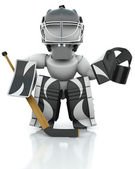 Ice hockey Goalie — Stock Photo