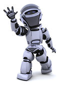 Robot waving — Stock Photo