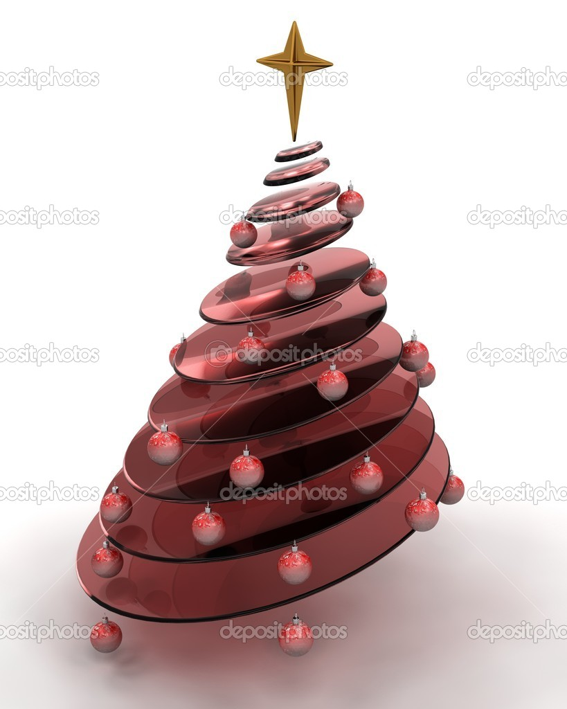 3d render of a conceptual abstract christmas tree — Stock Photo #5032557