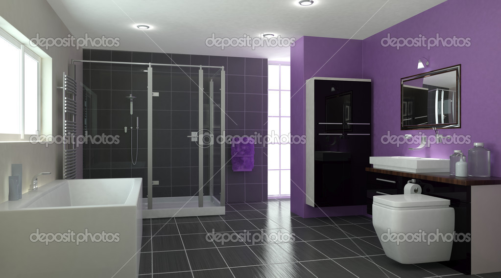 3D render of a Contemporary Bathroom Interior — Stock Photo #5032645