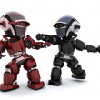 Robots in conflict - Stock Photo
