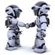 Robots shaking hands — Stock Photo #5041375