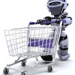 Robot shopping — Stock Photo