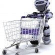 Robot shopping - Stock Photo