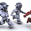 Robots running - Stock Photo