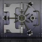 Robots guarding a bank vault — Stock Photo #5041482