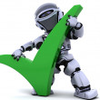 Robot with symbol — Stock Photo #5041638
