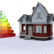 Classic Timber House with Energy ratings — Stock Photo #5041971
