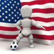 World cup football teams 2010 — Stock Photo