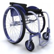 Wheelchair isolated on white — Stock Photo