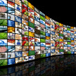 Wall of screens — Stock Photo #5042456