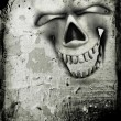 Grunge skull background — 图库照片