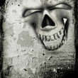 Royalty-Free Stock Photo: Grunge skull background