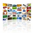 Wall of tv screens — Stockfoto