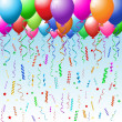 Party background with balloons - Stock Photo