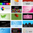 Stok fotoğraf: Business card designs