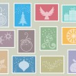 Christmas stamps — Stock Photo