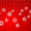Decorative snowflake background — Stock Photo