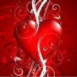 Stock Photo: Decorative Valentines background