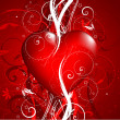 Decorative Valentines background — Stock Photo