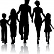 Stock Photo: Family silhouette