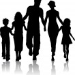 Family silhouette — Stockfoto #5046529