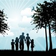 Family walking — Stock Photo