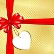 Gift with label - Foto de Stock