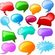 Stock Photo: Glossy speech bubbles