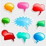 Glossy speech bubbles — Stock Photo #5047082