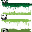 Grunge football banners - Stock Photo