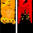 Grunge Halloween backgrounds - Stock Photo