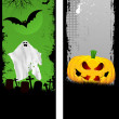Grunge Halloween banners — Stock Photo