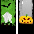 Grunge Halloween banners - Stock Photo