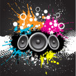 Grunge music background - Stock Photo