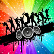 Grunge party background - Stock Photo