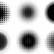 Stock Photo: Halftone dots
