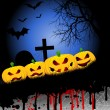 Halloween pumpkin background — Stockfoto