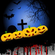 Stockfoto: Halloween pumpkin background
