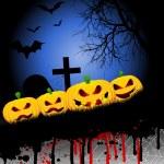 Fondo de calabaza de Halloween — Foto de Stock