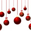 Hanging baubles — 图库照片